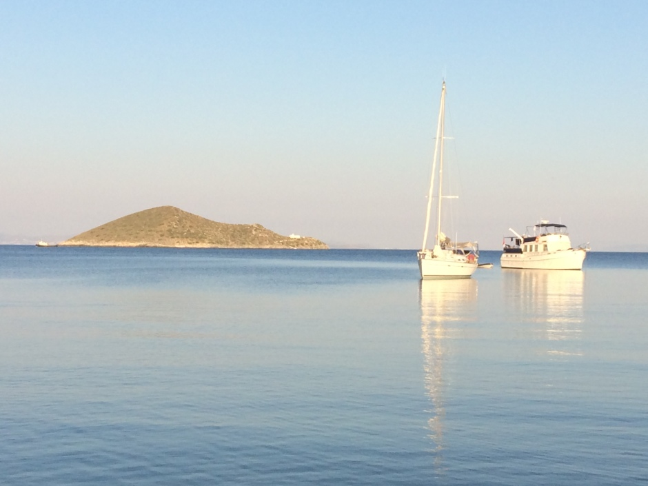 Agia Kyriaki with boats